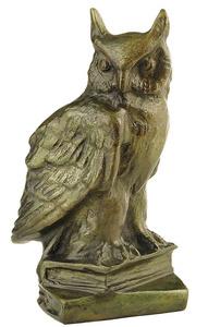 D.031 -  Owl in book, bronze