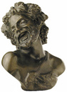 D.049 - Hellenic man head with cluster of grapes
