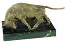 D.113m - Bika bronz szobor