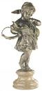 D.122m - Kislány, kosaras,márványon